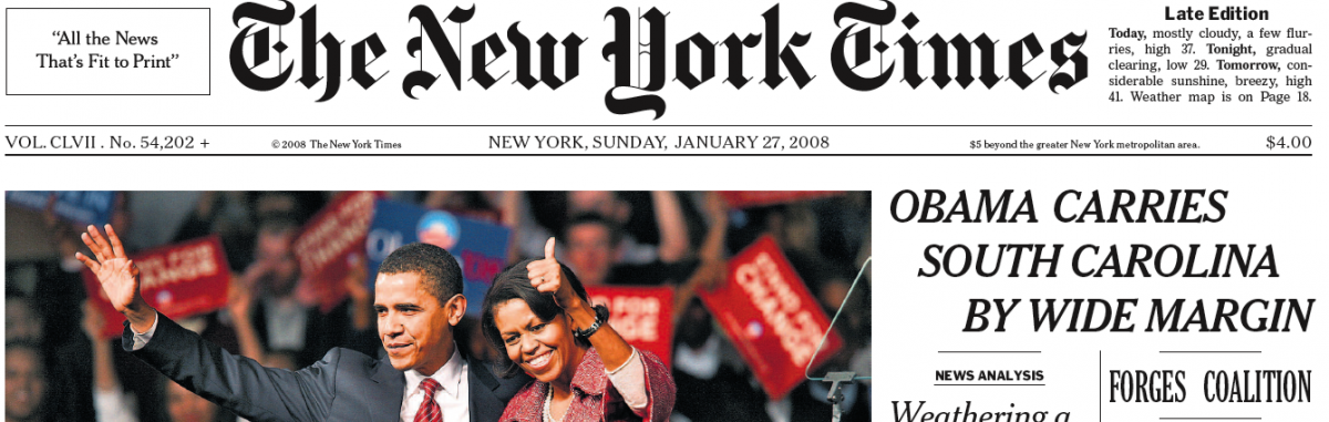 Seconde victoire pour Obama titre le New York Times